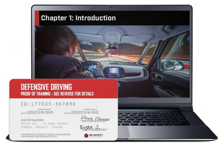 Screen shot and Certificate from the Defensive Driving Training Course